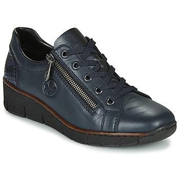 Schoenen Dames Lage sneakers Rieker 53702-14 Blauw