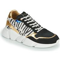 Schoenen Dames Lage sneakers Serafini OREGON Zwart / Wit / Goud