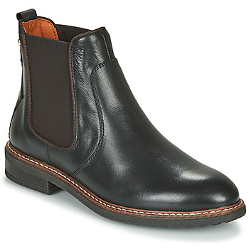 Schoenen Dames Laarzen Pikolinos ALDAYA W8J Zwart / Bruin