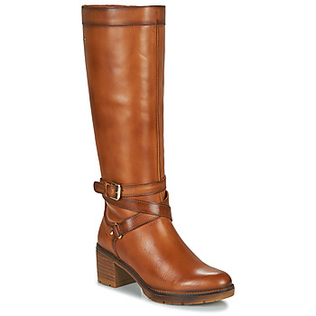 Schoenen Dames Hoge laarzen Pikolinos LLANES W7H Bruin