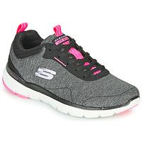 Schoenen Dames Fitness Skechers FLEX APPEAL 3.0 Grijs / Zwart / Roze