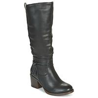 Schoenen Dames Hoge laarzen Emmshu FILI Zwart