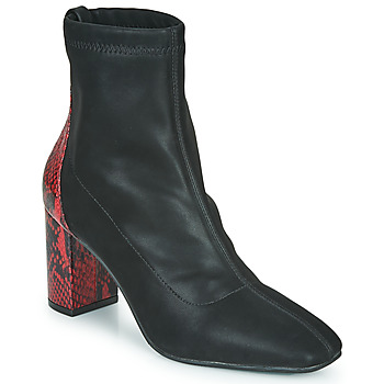 Schoenen Dames Enkellaarzen Gioseppo EGELN Zwart / Rood