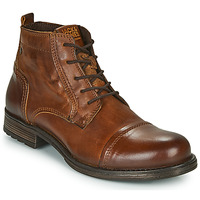 Schoenen Heren Laarzen Jack & Jones JFW RUSSEL LEATHER MID Cognac