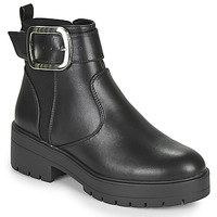 Schoenen Dames Laarzen Only BRANKA-5 PU BUCKLE BOOT Zwart