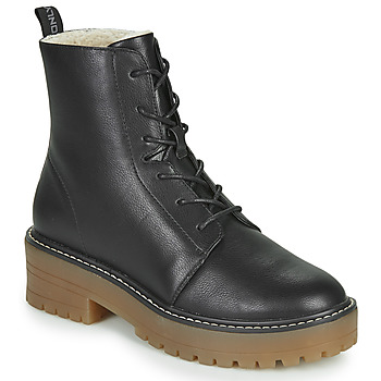 Schoenen Dames Laarzen Only BRANDY-6 LACE UP WINTER BOOT Zwart