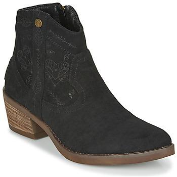 Schoenen Dames Enkellaarzen Refresh 72472 Zwart
