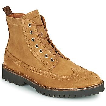 Schoenen Heren Laarzen Selected RICKY SUEDE BROGUE BOOT Camel