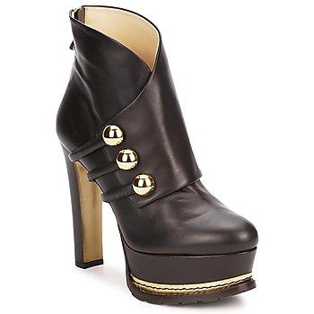 Schoenen Dames Enkellaarzen Moschino MA2104 Bruin