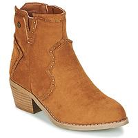 Schoenen Dames Enkellaarzen Xti 44614 Camel