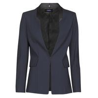 Textiel Dames Jasjes / Blazers Karl Lagerfeld PUNTO JACKET W/ SATIN LAPEL Marine / Zwart