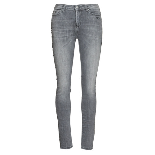 Textiel Dames Skinny jeans Karl Lagerfeld SKINNY DENIMS W/ CHAIN Grijs