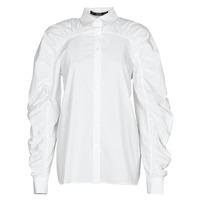 Textiel Dames Overhemden Karl Lagerfeld POPLIN BLOUSE W/ GATHERING Wit