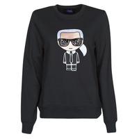 Textiel Dames Sweaters / Sweatshirts Karl Lagerfeld IKONIK KARL SWEATSHIRT Zwart