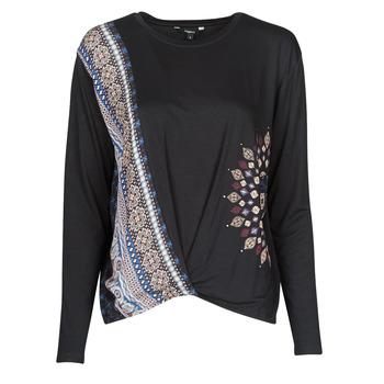 Textiel Dames T-shirts met lange mouwen Desigual MARSELLA Marine