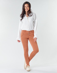 Textiel Dames 5 zakken broeken Cream HOLLY CR TWILL Bruin