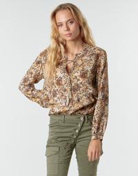 Textiel Dames Tops / Blousjes Cream AUGUSTA BLOUSE Multi