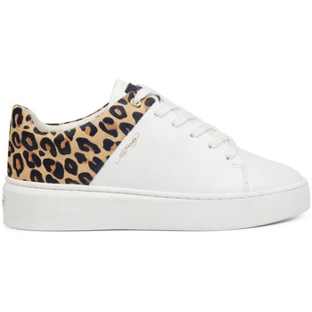 Schoenen Dames Lage sneakers Ed Hardy - Wild low top white leopard Wit