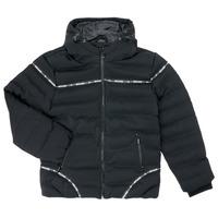 Textiel Jongens Dons gevoerde jassen Deeluxe HOLYSON Zwart
