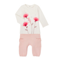 Textiel Meisjes Setjes Catimini CR36001-11 Wit / Roze