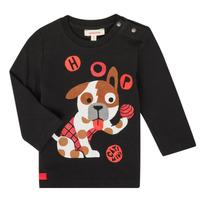 Textiel Jongens T-shirts met lange mouwen Catimini CR10022-02 Zwart