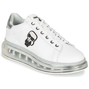 Schoenen Dames Lage sneakers Karl Lagerfeld KAPRI KUSHION Karl Ikonic Lo Lace Wit / Zilver