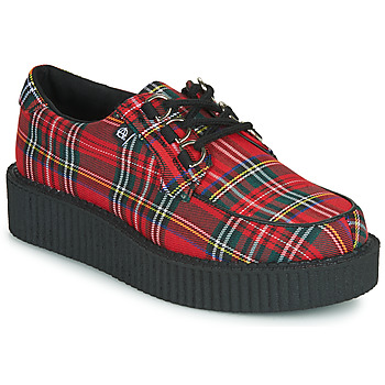 Schoenen Derby TUK ANARCHIC 3RING CREEPER CANVAS Rood / Tartan