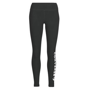 Textiel Dames Leggings Converse CONVERSE WOMENS WORDMARK LEGGING Zwart