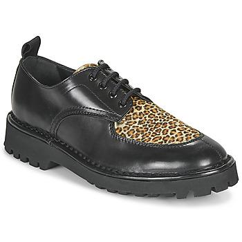 Schoenen Dames Derby Kenzo K MOUNT Zwart / Luipaard