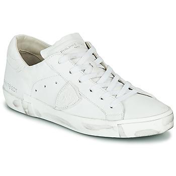 Schoenen Dames Lage sneakers Philippe Model PARIS X BASIC Wit