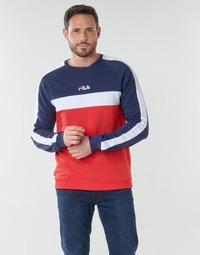 Textiel Heren Sweaters / Sweatshirts Fila CREW SWEATER Blauw / Wit / Rood