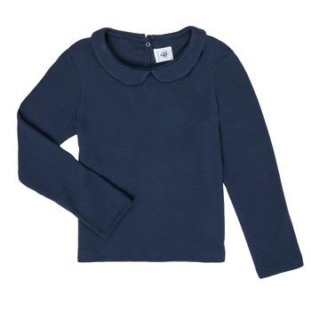 Textiel Meisjes T-shirts met lange mouwen Petit Bateau LOVING Marine