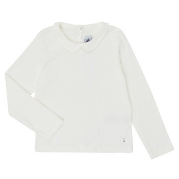 Textiel Meisjes T-shirts met lange mouwen Petit Bateau LOVING Wit