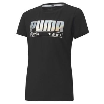 Textiel Meisjes T-shirts korte mouwen Puma ALPHA TEE 165 Zwart