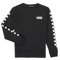 Textiel Kinderen Sweaters / Sweatshirts Vans EXPOSITION CHECK CREW Zwart