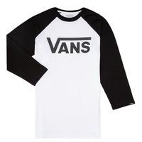 Textiel Jongens T-shirts met lange mouwen Vans VANS CLASSIC RAGLAN Zwart / Wit