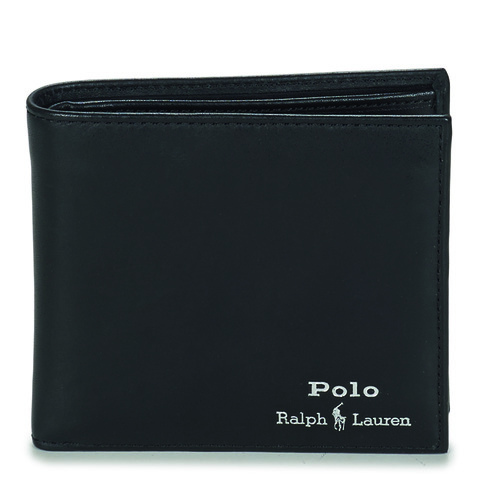 Tassen Heren Portefeuilles Polo Ralph Lauren GLD FL BFC-WALLET-SMOOTH LEATHER Zwart