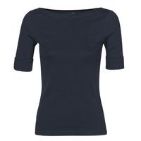 Textiel Dames T-shirts met lange mouwen Lauren Ralph Lauren JUDY Marine
