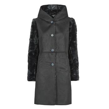 Textiel Dames Mantel jassen Lauren Ralph Lauren COMBO FX SH-COAT Zwart