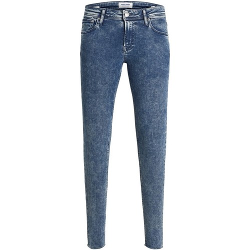 Textiel Heren Skinny Jeans Jack & Jones 12163468 JJITOM JJORIGINAL JOS 223 50SPS TC120 Azul oscuro
