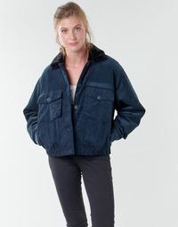 Textiel Dames Wind jackets Volcom ARMY CORD JACKET Blauw