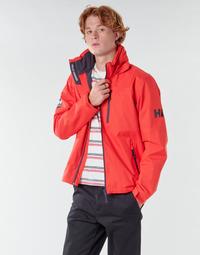 Textiel Heren Wind jackets Helly Hansen CREW HOODED MIDLAYER JACKET Rood