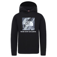 Textiel Jongens Sweaters / Sweatshirts The North Face NEW BOX CREW HODDIE Zwart