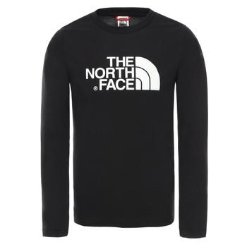 Textiel Jongens T-shirts met lange mouwen The North Face EASY TEE LS Zwart
