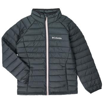 Textiel Meisjes Dons gevoerde jassen Columbia POWDER LITE JACKET Zwart