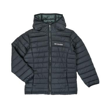 Textiel Jongens Dons gevoerde jassen Columbia POWDER LITE HOODED JACKET Zwart