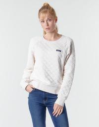 Textiel Dames Sweaters / Sweatshirts Patagonia W'S ORGANIC COTTON QUILT CREW Ecru