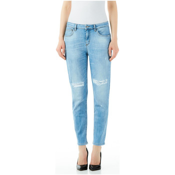 Textiel Dames Boyfriend jeans Liu Jo Blue Denim BOTTOM UP CUTE H.W. 78050-den-blue-globe-wash