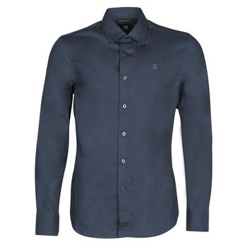 Textiel Heren Overhemden lange mouwen G-Star Raw DRESSED SUPER SLIM SHIRT LS Donkerblauw / Blauw
