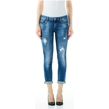 Textiel Dames Boyfriend jeans Liu Jo Blue Denim BOTTOM UP MONROE REG.W. 78049-den-blue-shore-wash